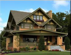 Stunning Craftsman Style Home. Love the colors. Love the house.  Would like the stables and greenhouse office to have this color scheme