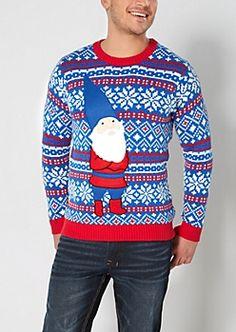 Smirking Gnome Ugly Holiday Sweater