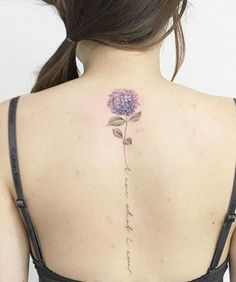 Prettiest Back Flower Tattoo Ideas for Girls