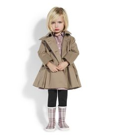 This has nothing to do with me but OMG this little girls outfit is so adorable! Love the Burberry trench!