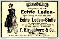 Original-Werbung/ Anzeige 1898 - ECHTE LODEN / HIRSCHBERG - MÜNCHEN - ca. 90 x…