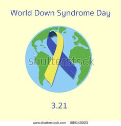 World Down Syndrome Day. Flat vector stock illustration.