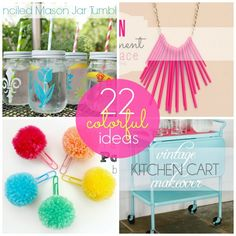 22 Colorful Projects and Ideas for Summer!! -- Tatertots and Jello #DIY #summerideas