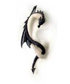 Dragons Lure Black Cuff- this would look awesome with my chevron dress