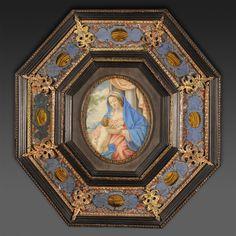 Vierge � l'enfant d'apr�s Simon Vouet - Ecole fran�aise XVIIe, Antiquit�s de Frise, Proantic