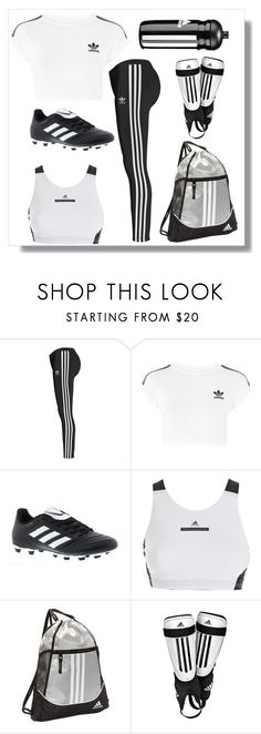 """One brand- Adidas soccer"" by anniecookie ❤ liked on Polyvore featuring adidas Originals, Topshop, adidas, sporty and organized"