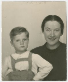 """Photo of Frank """"Misa"""" Grunwald and his mother, Vilma, that was recently added to the archives of @HolocaustMuseum - learn more about their story at www.misasfugue.com"""