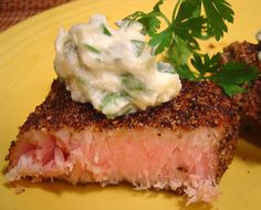 Pepper- Grilled Tuna Steak With Parsley- Garlic Butter Recipe - Food.com
