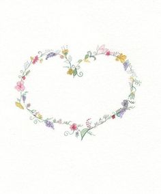 Items similar to Fruits of Love / heart with flowers / 1 Corinthians 13 / or Proverbs / Reproduction of Watercolor Painting on Etsy