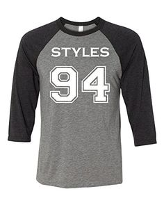 Adult One Direction Harry Styles 94 Baseball T-Shirt X-Large