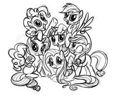 Dessin préparatoire de My Little Pony