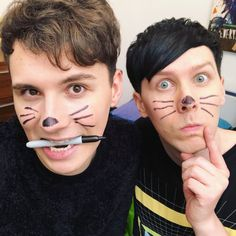 The cat whiskers come from within💓😺 Phil Lester, Lonely Planet, Dodie Clark, Dan And Phill, Phil 3, Danisnotonfire And Amazingphil, Cat Whiskers, Tyler Oakley, Shane Dawson