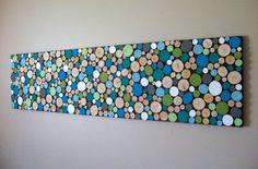 Wood slice wall art DIY More