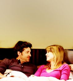 """""""The ABC Couples We Love"""" : When They Met, It Was MerDer """" Meredith and Derek slept together the first day they met. After years of countless surgeries, split-ups, elevator confessions, hospital shootings and one marriage by Post-It, Derek and..."""