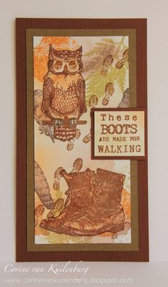 Corine's Art Gallery: Art Journey Challenge No black ink Owls, Mixed Media, Stamps, Art Gallery, Challenges, Journey, Van, Artwork, Cards