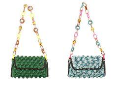 M missoni borsa rffetto rafia con catena plexiglass colorato primavera estate 2014