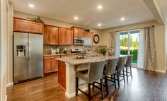 Kitchen with included appliances in the Redwood home at Christy's Crossing.