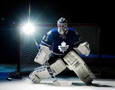 Toronto Maple Leafs goalie Jonathan Bernier