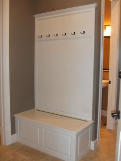 Make Pleasant Hallway By Adding Mudroom Bench With Seat And Coat Hooks