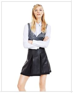 Spring Summer 2013 Womens Clothing [PHOTOS] Spring Summer 2013 clothing faux leather skirt