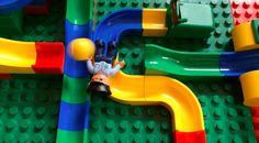 Kugelbahn mit Hubelino und Lego Duplo / Marble run with Hubelino and Leg...