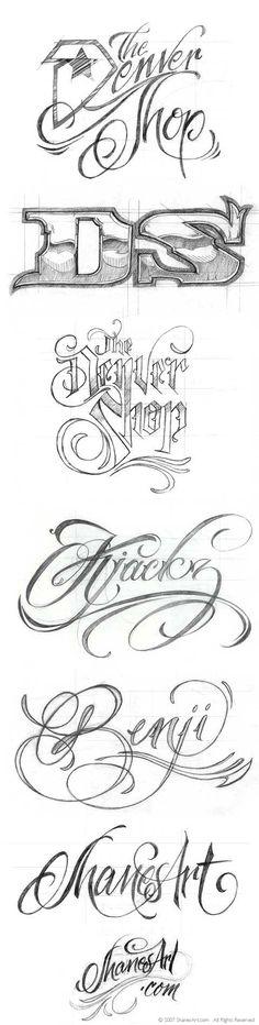 Tattoo Lettering | tattoo lettering fonts.type treatments shanesart blog clvl7hks Type ...