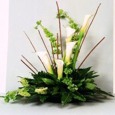 Modern Floral Arrangements | Contemporary Calla Lily Arrangement,created by The Harvest Garden ...