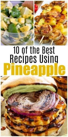 10 of the Best Pineapple Recipes for Summer - Salads, Grilling & Pineapple Recipes Healthy, Pineapple Dessert Recipes, Healthy Recipes, Juice Recipes, Healthy Meals, Healthy Food, Healthy Eating, Summer Salad Recipes, Summer Salads
