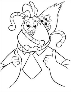 Father Chicken Little And Aliens Coloring Page - Chicken Little car coloring pages