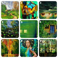"""@PANTONE COLOR of the year #emerald on www.ArtistBe.com:  1.  """"Clubhouse of Santa Luz"""" by Shant Beudjekian, 2. """"La Douleur De Vivre"""" by Helena Wierzbicki,  3. """"Boats (with moon)"""" by Justyna Kopania, 4. """"Pond 561180"""" by Pol Ledent , 5. """"One of Four Four From One"""" by Geoff Gildner,  6. """"My Glycine"""" by Pol Ledent   , 7. """"Rain"""" by Justyna Kopania, 8. """"Methamorphosis"""" by Carol Chen Poun Joe, 9. """"Paradise"""" by Caia Matheson"""
