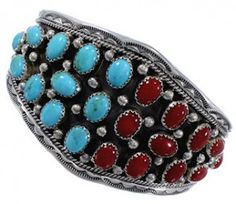 Add this gorgeous bracelet to your collection! This piece of Native American jewelry is Navajo hand made out of ge......Price - $239.99-pwxbz5CX