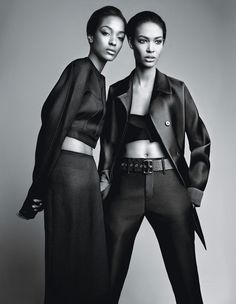 Fashion Joan Smalls & Jourdan Dunn by Patrick Demarchelier for W Magazine February 2014