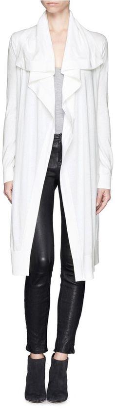 THEORY 'Casterly' drape collar long cardigan