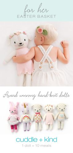 Sewing Gift For Kids Lovingly handcrafted, award-winning dolls that feed children in need. Knitted Dolls, Crochet Toys, Crochet Slippers, Henna Designs, Baby Shower Gifts, Baby Gifts, Unique Gifts For Kids, Boy Decor, Toys For Girls