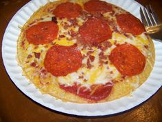 Ginny's Low Carb Kitchen: Frying Pan Pizza (this is a soft crust that you eat with a fork, I love this for lunch)