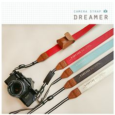 """Dreamer"" Camera Strap - Because you shouldn't have to use ugly things to make pretty pictures."
