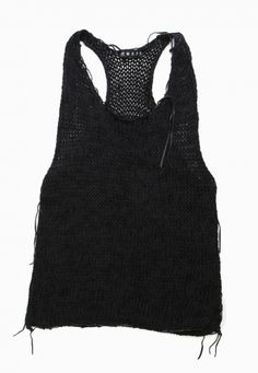 Morph Knitwear Exclusive Leather and Knit Tank