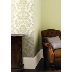 Laura Ashley - Hampstead - Sage - Wallpaper