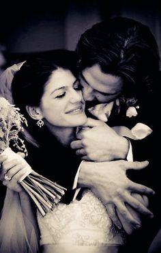 Jared and Genevieve Padalecki on their wedding day dfhgaehrioehr love this