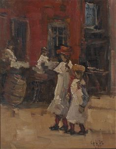 The Athenaeum - Girls strolling on the street Date unknown (George Heidrik Breitner - )