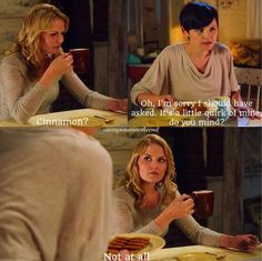 I loved this little hint in the first season, that they and Henry all like cinnamon in their hot chocolate.