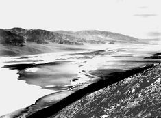 "Ansel Adams Photography | Death Valley National Monument ,"" looking across desert toward ..."