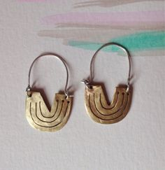 Pierced and sawed brass hoops