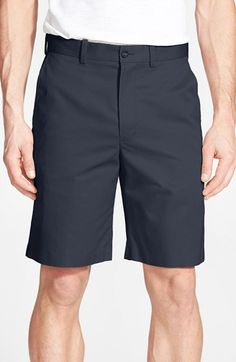 Men's Big & Tall John W. Nordstrom Supima Cotton Flat Front Trouser Shorts