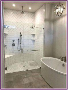 33 Surprising Modern Master Bathroom Decor Ideas - Page 35 of 36 Master Bathroom Shower, Modern Master Bathroom, Small Bathroom, Bathroom Ideas, Shower Ideas, Master Bedroom, Bathroom Showers, Master Bathrooms, Bathroom Designs