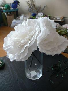 Wedding DIY Decor: Coffee Filter Peonies