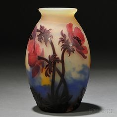 Muller Fres Cameo Glass Vase   Sale Number 2770B, Lot Number 103   Skinner Auctioneers