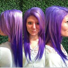 Violet ombre by Amber Casciano!  #lampzhair #violethair #purplehair #pravana #pravanavivids #evohair #evosaveus #melrosemcqueen #hair #atlanta