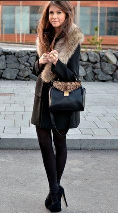 fur detail on black