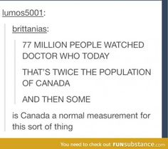Using canada to measure population